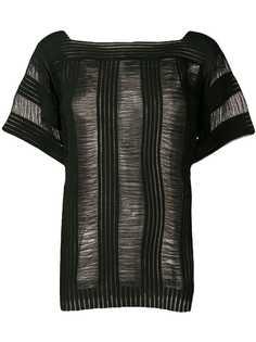 Calvin Klein футболка с прозрачными вставками