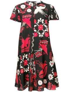 Red Valentino платье трапеция с цветочным принтом