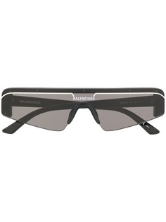 Balenciaga солнцезащитные очки Ski в прямоугольной оправе