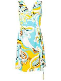 Emilio Pucci пляжное платье Badea с запахом и принтом