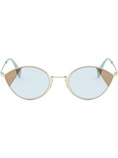 Fendi солнцезащитные очки в оправе кошачий глаз