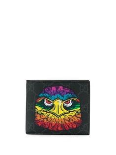 Gucci бумажник с узором GG Supreme и принтом