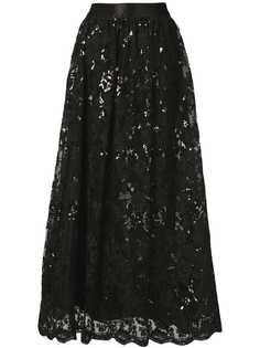 Alice+Olivia sequinned lace maxi skirt