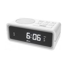 Радиобудильник RITMIX RRC-606, белая подсветка, белый