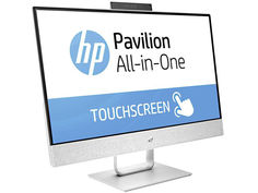 Моноблок HP Pavilion 24-x050ur White 3ES07EA (Intel Core i5-7400T/4096Mb/1Tb + 16Gb/No ODD/Radeon 530 2048Mb/Wi-Fi/Bluetooth/Cam/23.8/1920x1080/Windows 10)