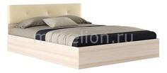 Кровать двуспальная Виктория ЭКО-П с матрасом 2000х1600 Наша мебель