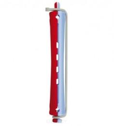 Comair - Бигуди, D 11 мм, с круглой резинкой, красно-голубые, 12 шт