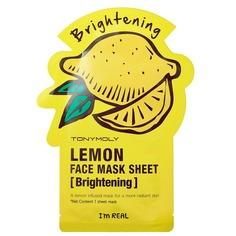 Tony Moly - Тканевая осветляющая маска для лица с экстрактом лимона I'm Real Lemon Mask Sheet Brightening, 21 мл