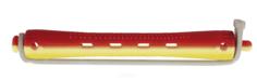 Dewal - Бигуди для холодной завивки с силиконовой круглой резинкой желто-красные, 12 шт (2 вида)