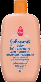 """Johnson's Baby - Гель-пена для купания 2 в 1 """"Веселые пузырьки"""", 300 мл"""