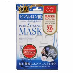 Japan Gals - Маска с гиалуроновой кислотой Pure5 Essential, 30 шт