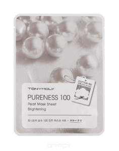 Tony Moly - Тканевая маска с экстрактом жемчуга Pureness 100 Pearl Mask Sheet Brightening, 21 гр