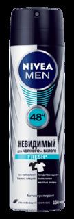 Nivea - Дезодорант-спрей Невидимая защита для черного и белого Fresh, 150 мл