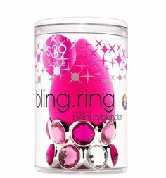 BeautyBlender - Спонж для макияжа розовый на подставке в форме кольца Bling Ring