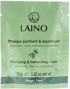 Laino - Маска очищающая с зелёной глиной, 12 г