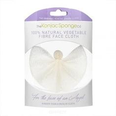 The Konjac Sponge Co - Спонж для лица и тела в виде ангела Angel Cloth без добавок ультрамягкий
