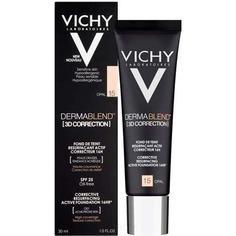 Vichy - Тональная основа с высоким покрытием для жирной кожи склонной к появлению акне Dermablend 3D, 30 мл