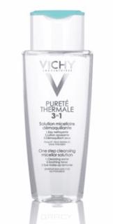 Vichy - Мицеллярный лосьон для снятия макияжа с лица и глаз Purete Thermal, 200 мл