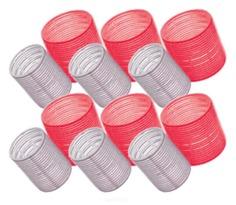 Wella - Бигуди для волос красные Big Velcro Roller 65 мм, 6 шт/уп