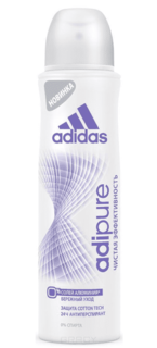 Adidas - Дезодорант-антиперспирант спрей жен. Adipure 24 ч, 150 мл