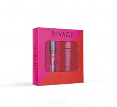 Divage - Набор подарочный № 65 (тушь для ресниц 90х60х90 № 6101 + блеск для губ Crystal Shine № 06), 10 + 5 мл