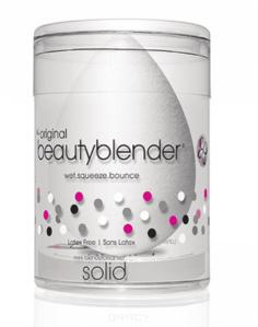 BeautyBlender - Набор косметический Beautyblender Pure + Blendercleanser Solid Mini Спонж белый + мини-мыло