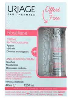 Uriage - Набор Roseliane крем 40 мл + Очищающая мицеллярная вода для чувствительной кожи 100 мл