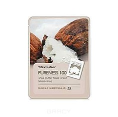 Tony Moly - Маска с экстрактом масла Ши Pureness 100 Shea Butter Mask Sheet Moisturizing, 21 мл