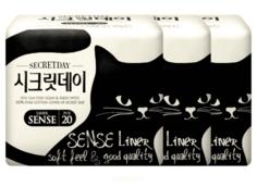 Secret Day - Прокладки ежедневные Ультратонкие дышащие органические 14,5 см, 20 шт