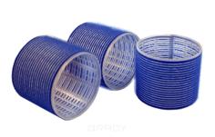 Sibel - Бигуди на липучке 80 мм темно-синие, 3 шт/уп