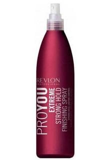 Revlon - Жидкий лак для волос сильной фиксации Pro You Extreme Strong Hold Finishing Spray, 350 мл
