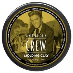American Crew - Формирующая глина сильной фиксации со средним уровнем блеска для укладки волос King Classic Molding Clay, 85 г
