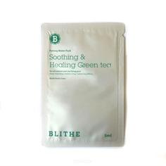 Blithe - Сплэш-маска для восстановления «Смягчающий и заживляющий зеленый чай», sample, 5 мл