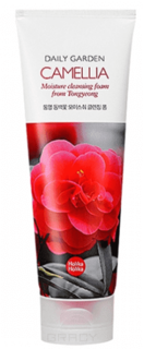 Holika Holika - Пенка для лица с экстрактом камелии Daily Garden Tongyeong Camelia Moisture Cleansing Foam, 120 мл
