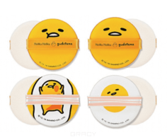 Holika Holika - Набор спонжи Gudetama Chop Chop Cushion Puff Set 4P, 4 шт