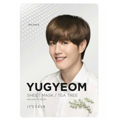 "It's Skin - Анти-акне тканевая маска ""Гот7 Югём"", чайное дерево YuGyeom Tea Tree Mask Sheet, 18 г"