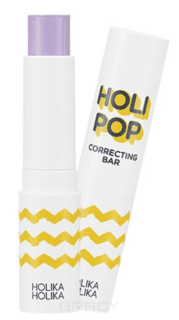 "Holika Holika - Цветной корректор для макияжа ""Холипоп"", против тусклости кожи Holipop Correcting Bar Berry stick, 4 г"
