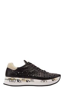 Черные кроссовки с перфорацией Premiata