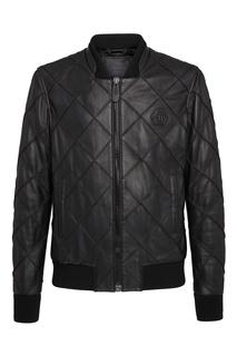 Черная куртка с фактурной отделкой Philipp Plein