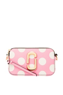 Розовая сумка в белый горох Snapshot Marc Jacobs