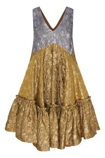 Платье из блестящей тафты No21