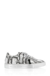 Фактурные кеды с брендированной шнуровкой Philipp Plein