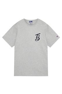 Серая футболка Champion x Beams