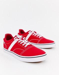 Парусиновые кроссовки с полосками по бокам Jack & Jones - Красный