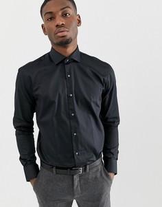 Черная приталенная рубашка в строгом стиле Ted Baker - Черный