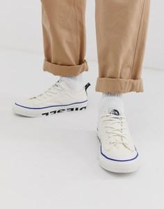 Белые парусиновые кроссовки с логотипом Diesel - Белый
