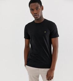 Черная узкая футболка Farah Farris - Черный