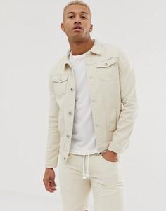 Светло-бежевая узкая джинсовая куртка Liquor N Poker - Кремовый