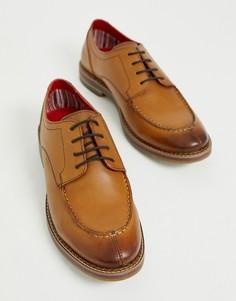 Светло-коричневые туфли на шнуровке Base London Constable - Рыжий