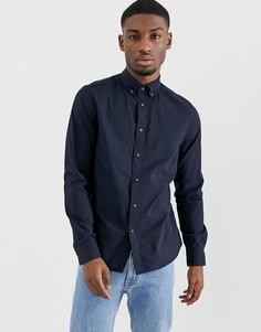 cf37860482f Выбеленная оксфордская рубашка с воротником на пуговицах Calvin Klein -  Темно-синий